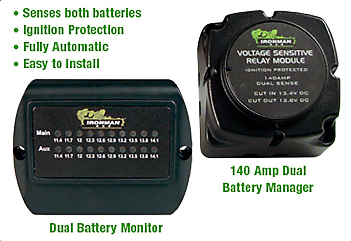Ironman 4×4 140 Amp Dual Battery Kits